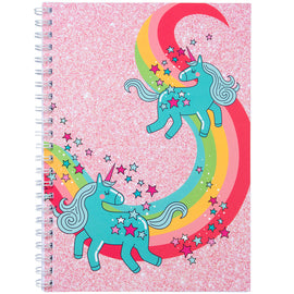 Unicorn Rainbow Pink A4 Notebook