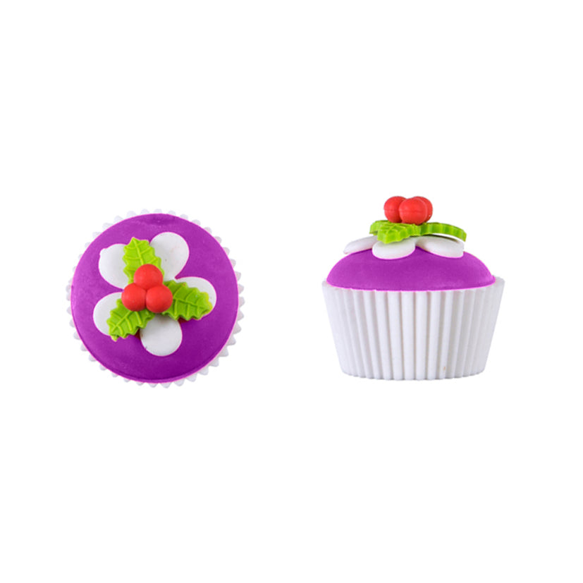 Cupcake Erasers -Purple