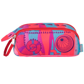 Double Zip Chameleon Pencil Case