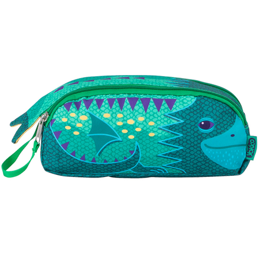 Double Zip Dragon Pencil Case