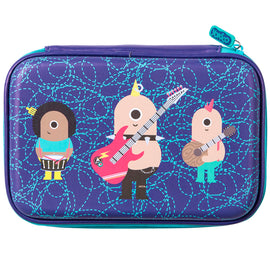 Blue Rockers Hardshell Pencil Case