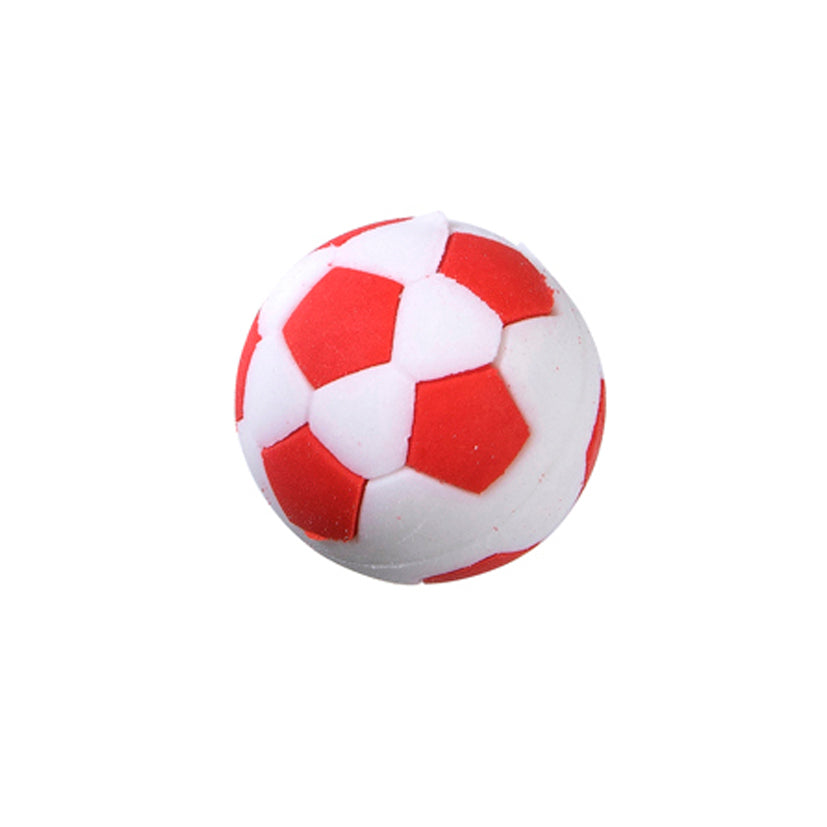 Soccer Ball Puzzle Eraser -Red
