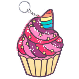 Cupcake Coin Purse Keychain