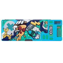 Graffiti Green Press&Pop Pencil Case