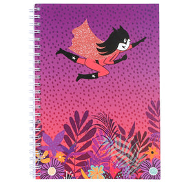 Yoki & Spike A4 Spiral Notebook