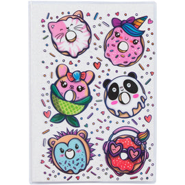 Donut Glitter A5 Journal - White