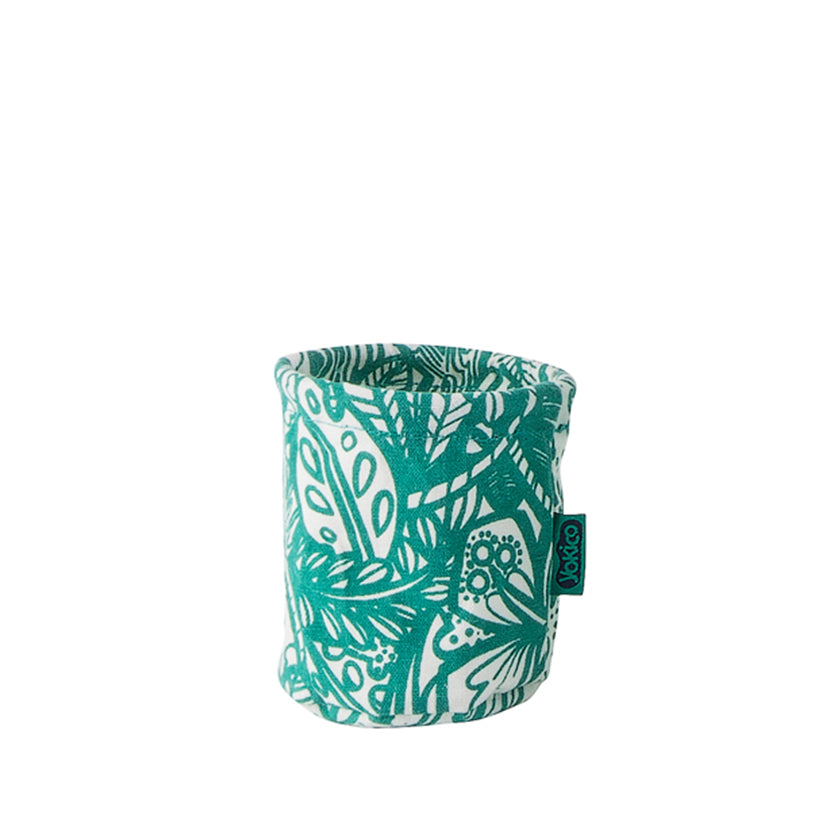 Green Jungle Fabric Pen Cup