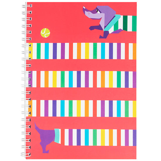 Rainbow Dog A4 Spiral Notebook