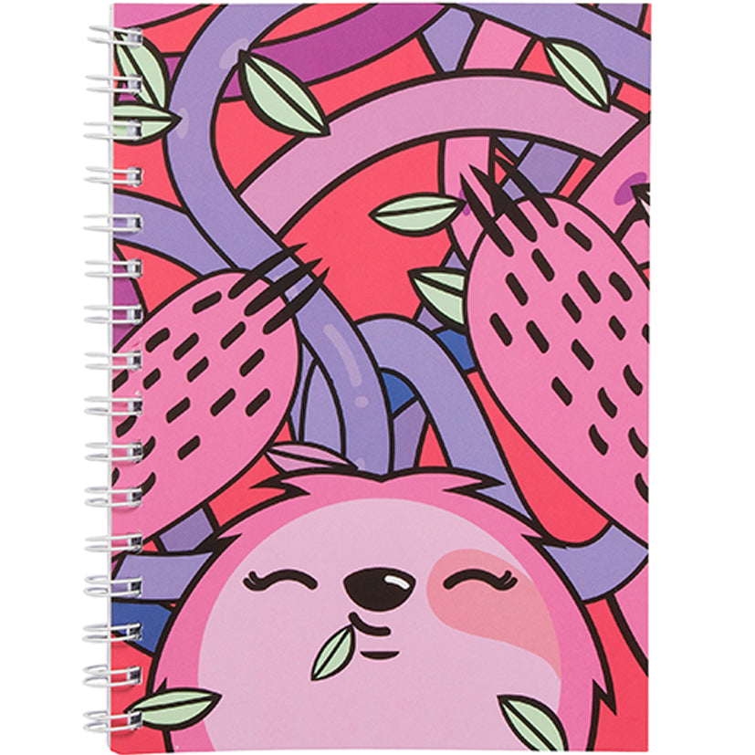 Sloth A5 Spiral Notebook