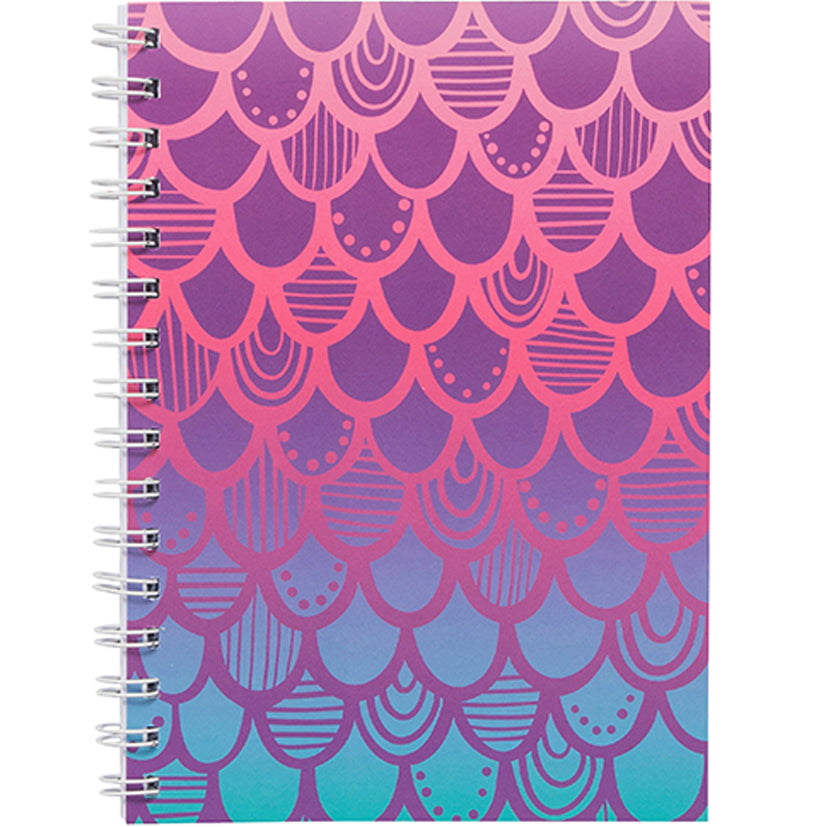 Mermaid Scales A5 Spiral Notebook