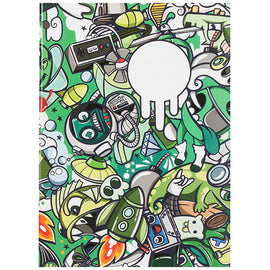 Green Graffiti A4 Exercise Book