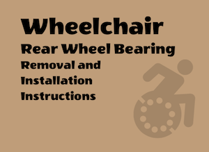 Booklet rear wheel bearing removal and replace instructions