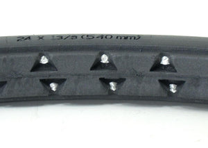 "24 x 1 3/8"" Dark Gray Pr1mo Orion Urethane Street Tire"