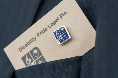 Image of disability pride lapel pin