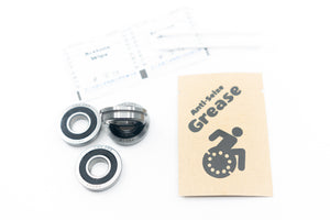 "Fork Wheelchair Bearings High Performance Flanged R8 (FR8) 1/2"" ABEC-5 1/2x1-1/8x.3125"" (4-Pack)"