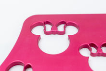 "Load image into Gallery viewer, Mouse Head with Bow Universal Wheelchair Footplate 7"" x 6"" Front Bolt Fixed Pink"