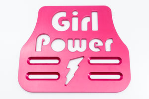 "Girl Power Universal Wheelchair Footplate 7"" x 6"" Front Bolt Fixed Pink"