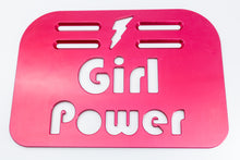 "Load image into Gallery viewer, Girl Power Universal Wheelchair Footplate 10"" x 7"" Rear Bolt Flip Up Pink"