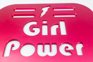 "Girl Power Universal Wheelchair Footplate 10"" x 7"" Rear Bolt Flip Up Pink"
