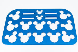"Mouse Head Universal Wheelchair Footplate 12"" x 7"" Rear Bolt Flip Up Blue"