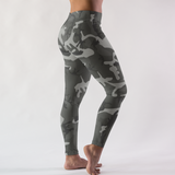 Urban Gray Camouflage Pattern Women's Leggings