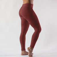 Maroon Abstract Circle Pattern Women's Leggings