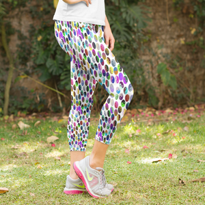 Yin and Yang Everywhere! Women's Capri Leggings - USA Made