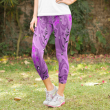 Amethyst Floral Garden with Butterflies Women's Capri Leggings