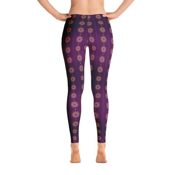 Deep Purple Mandala Pattern Women's Leggings