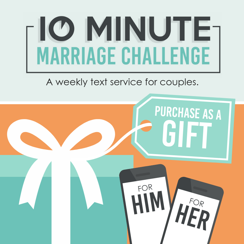 10 Minute Marriage Challenge Gift Option FOR COUPLES