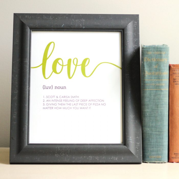 Personalized Love Prints