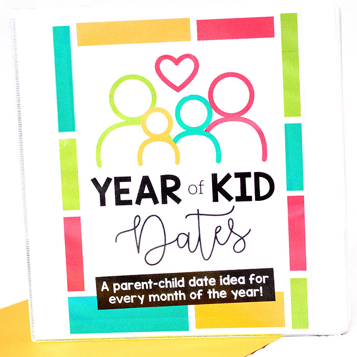Year of Dates for Kids Binder Covers