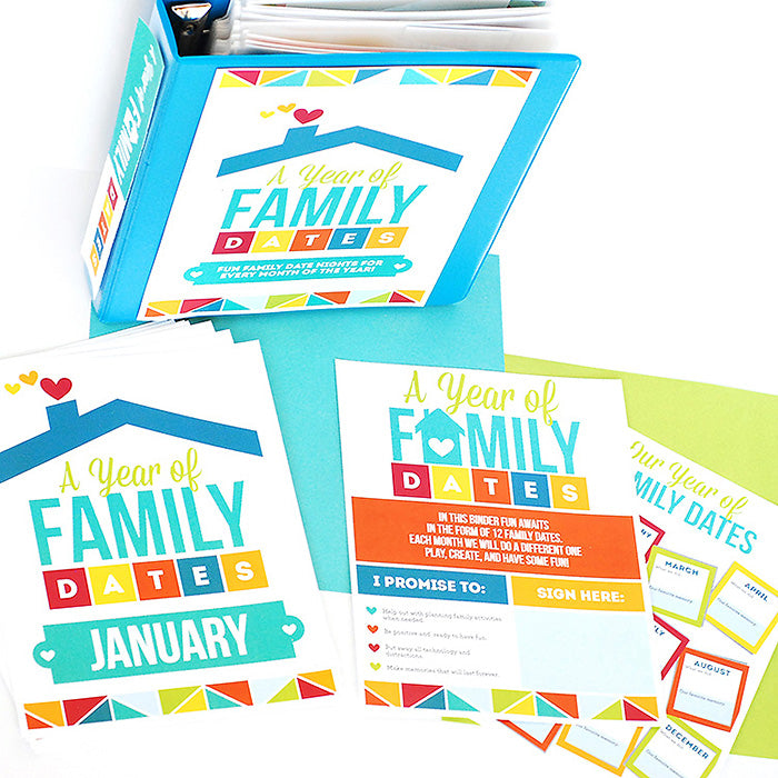 Year of Family Date Nights Binder Covers