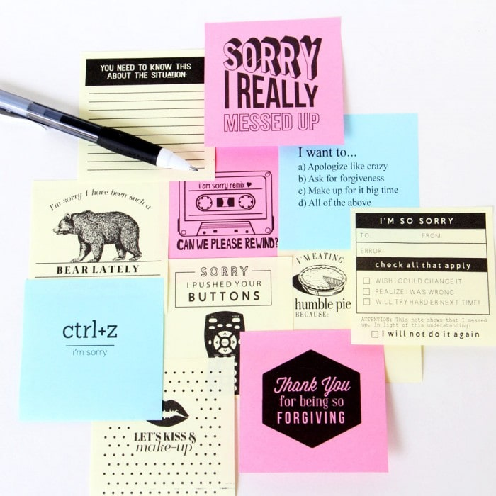 Printable Sticky Notes