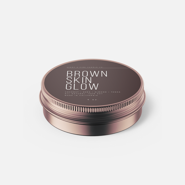 Brown Skin Glow Travel Tin - Scent & Fire Candle Co.