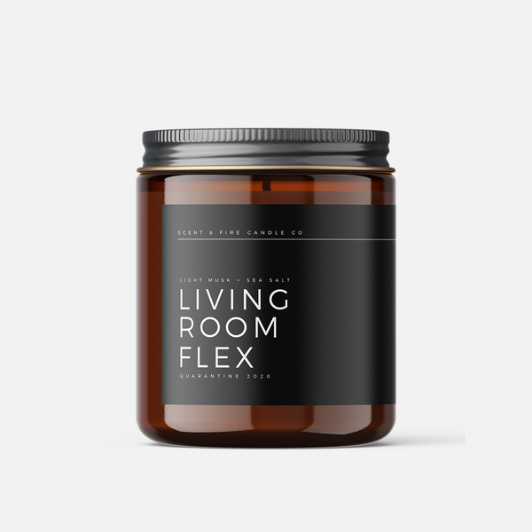 Living Room Flex Scented Candle - Scent & Fire Candle Co.