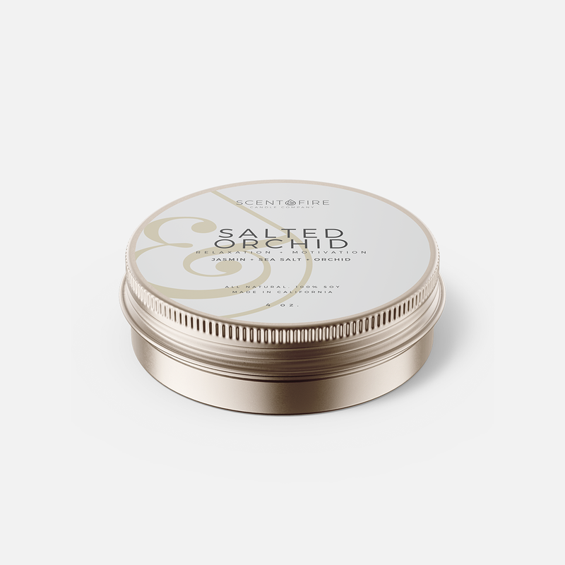 Salted Orchid Travel Tin - Scent & Fire Candle Co.