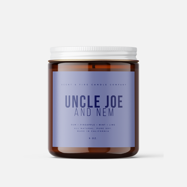 Uncle Joe Scented Candle - Scent & Fire Candle Co.