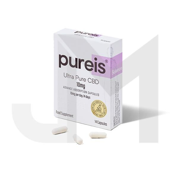 Pureis® CBD 10mg CBD Ultra Pure CBD Advanced Absorption Capsules - 14 Caps