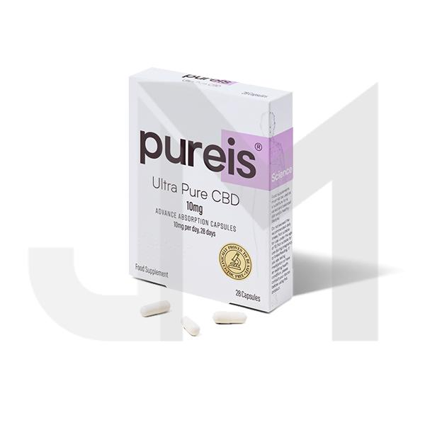 Pureis® CBD 10mg CBD Ultra Pure CBD Advanced Absorption Capsules - 28 Caps