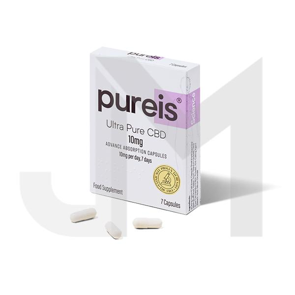 Pureis® CBD 10mg CBD Ultra Pure CBD Advanced Absorption Capsules - 7 Caps