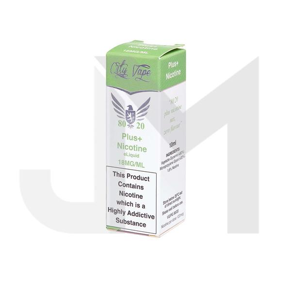 18mg City Vape Flavourless Nicotine Shot 10ml (80VG/20PG)