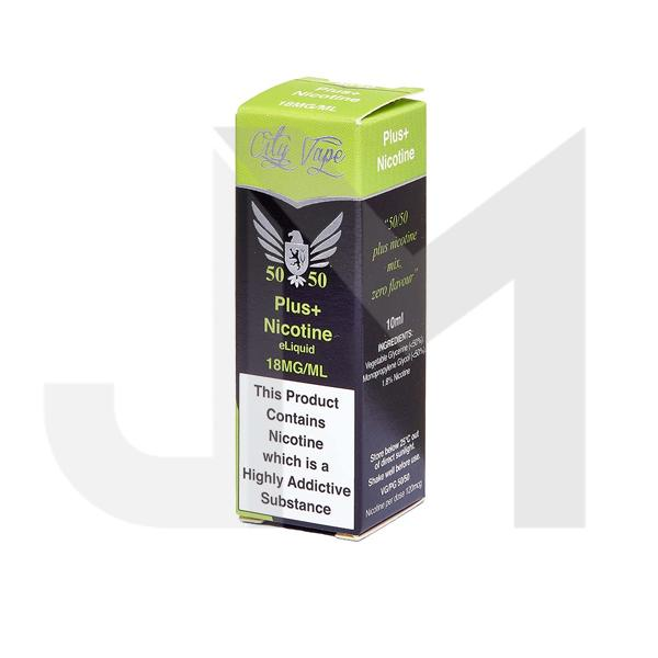 18mg City Vape Flavourless Nicotine Shot 10ml (50VG/50PG)