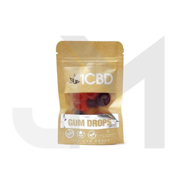 1CBD Pure Hemp CBD fruit flavoured Gum Drops 100mg CBD