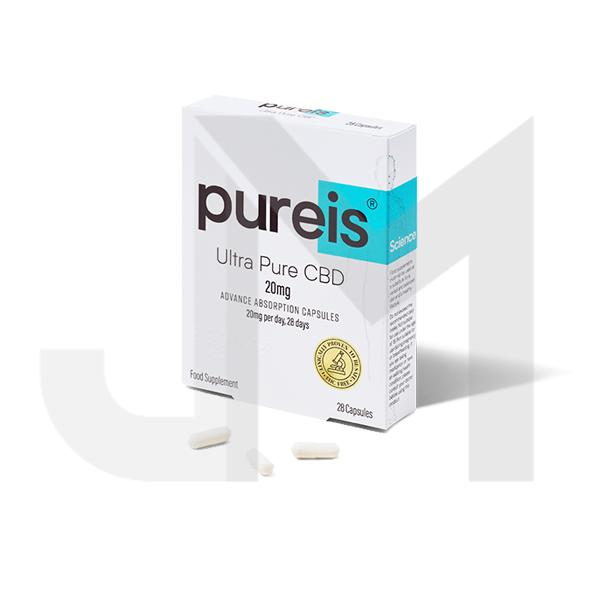 Pureis® CBD 20mg CBD Ultra Pure CBD Advanced Absorption Capsules - 28 Caps