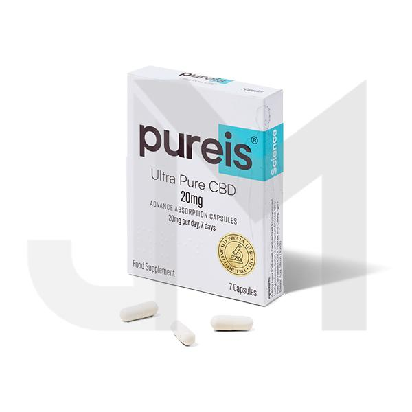 Pureis® CBD 20mg CBD Ultra Pure CBD Advanced Absorption Capsules - 7 Caps