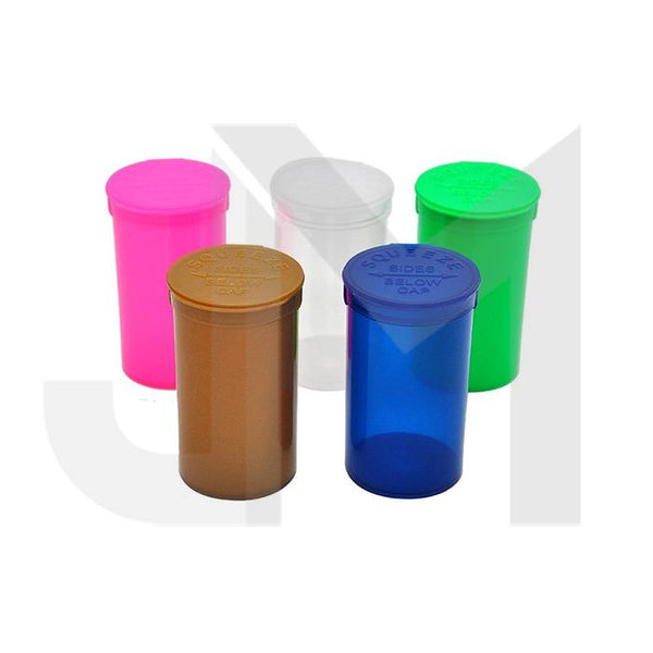 225 x 19 Dram Pop Top Storage Bottles - Mixed Colours