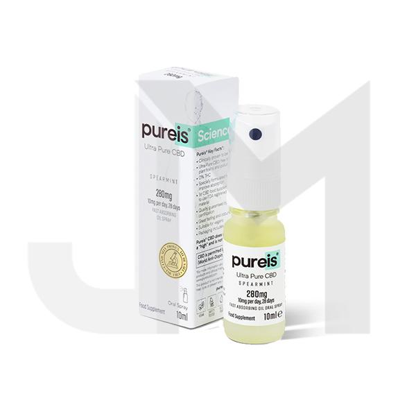 Pureis® CBD 280mg Ultra Pure CBD Oral Spray - Spearmint
