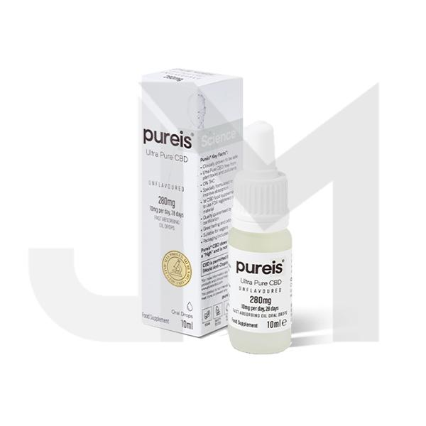 Pureis® CBD 280mg CBD Ultra Pure Oral Drops - Unflavoured
