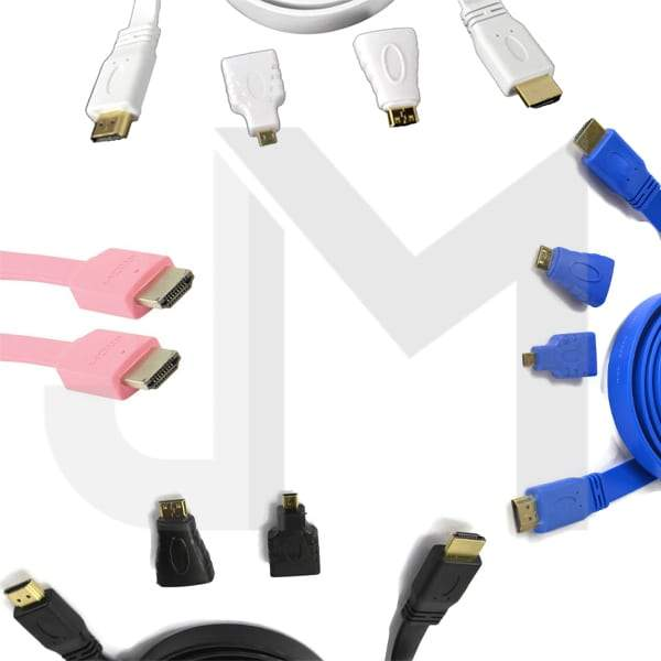 1.5m 3in1 HDMI Flat Cable + Micro and 5Pin